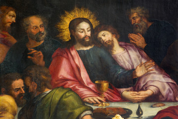Antwerp - Jesus and st. John at last supper - Jakobskerk