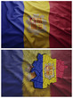 Andorra flag and map collage