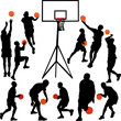 Basketball players - vector