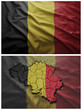 Belgium flag and map collage