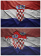 Croatia flag and map collage