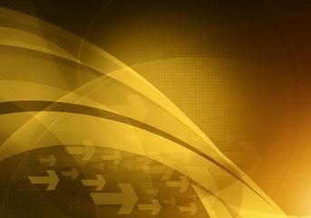 abstract gold arrows backdrop
