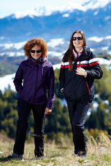 Woman hikers on a hiking trip