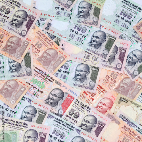 Background created with Indian currency