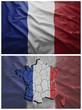 France flag and map collage