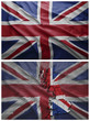 United Kingdom flag and map collage