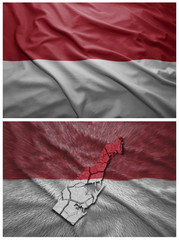 Monaco flag and map collage