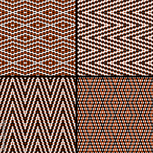 Seamless argyle pattern, composed of dots. Vector