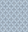 Blue Fleur De Lis Textured Fabric Background