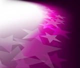Fototapety Background with lighting effect and stars. Vector illustration.