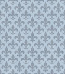 Blue Fleur De Lis Textured Fabric Background