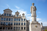 The Queen Elisabeth statue in Brussels, Belgium