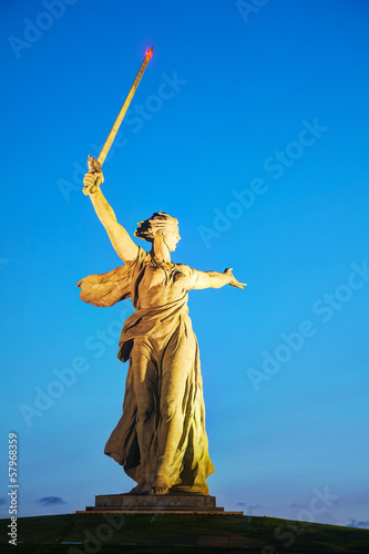 The Motherland calls! monument in Volgograd, Russia