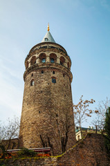 Galata Tower (Christea Turris) in Istanbul, Turkey