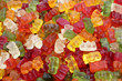 haribo bear candies as background