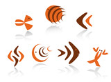 Underwater animals symbols