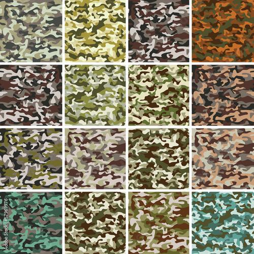 Aluminium Kunstmatig Vector Mega Set of Seamless Camouflage Pattern