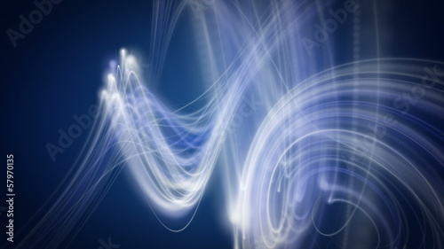 wonderful animation - stripe wave object in motion – loop HD