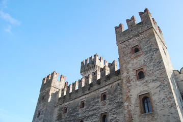 The castle of Sirmione on Lake Garda - Brescia - Italy