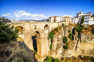 Bridge of Ronda, one of the white villages of Malaga, Spain.