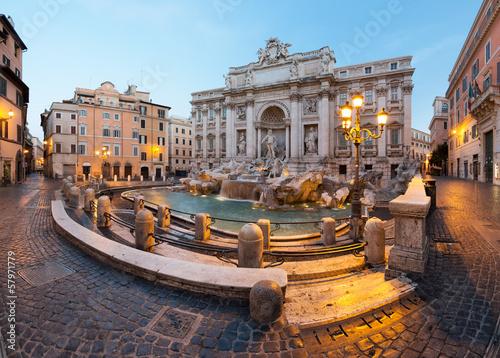 Canvas Rome Fontaine de Trevi, Rome, Italie