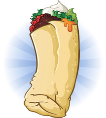 Burrito Cartoon Illustration