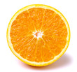 canvas print picture - slice of orange fruit isolated