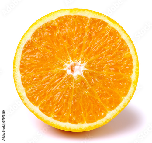 canvas print picture slice of orange fruit isolated
