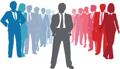 Business company people team leader