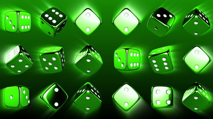 Flowing Casino Dices