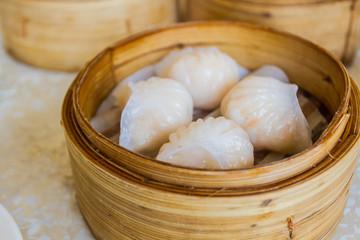 Dumpling in Bamboo Basket.