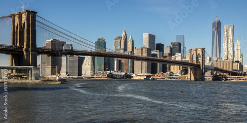 NYC Skyline Brooklyn Bridge