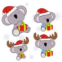 koala xmas baby claus gift set