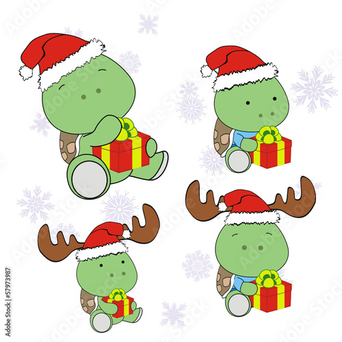 turtle xmas baby claus gift set