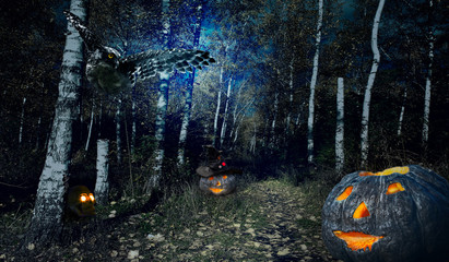Halloweenv forest