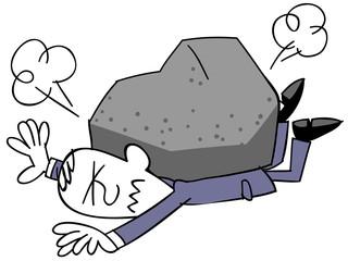 重圧に苦しむビジネスマン