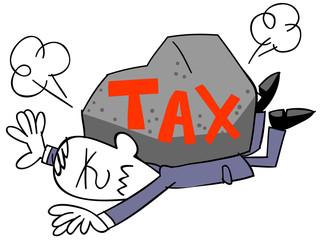税金に苦しむビジネスマン