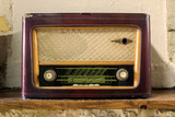 Old Vintage Radio - Stock Image