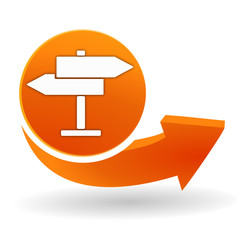 se diriger sur bouton web orange