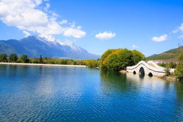 Landscape of Lijiang.  Yunnan province.  China.