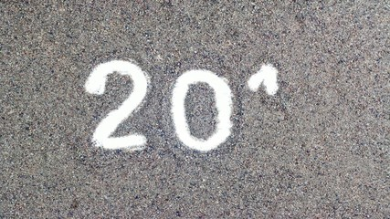 2014 text on sand in stop motion animation