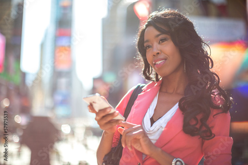 African American black cosmopolitan woman in New York City
