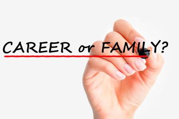 Career versus family