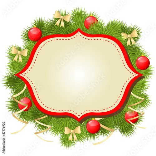 Christmas congratulatory background