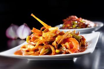 Curry squid