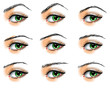 Nine  different eyebrows set
