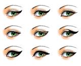 Fototapety Nine  different eyeliners set