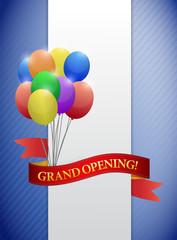 grand opening ribbon card illustration