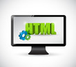monitor html sign illustration design