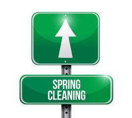 spring cleaning road sign illustration design
